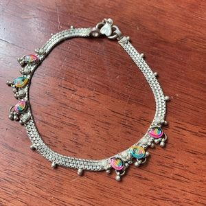 Silver colorful braclet